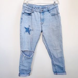 Cotton On | Star Patch The Boyfriend Ripped Jeans